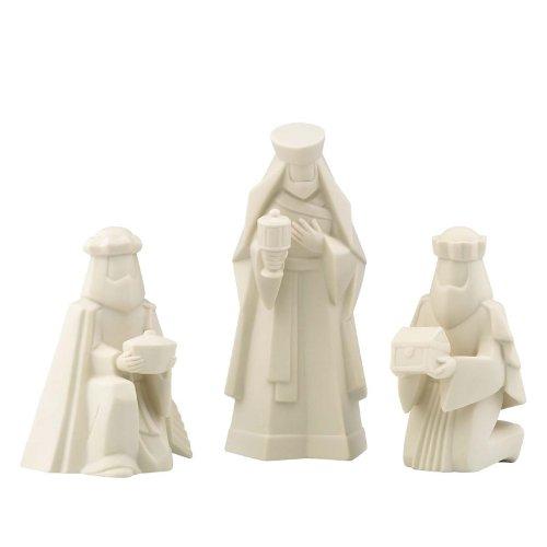 - Lenox Fine Porcelain China Holy Night Nativity 3 Kings Figurine Set - 6