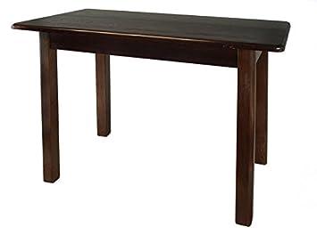 Tisch Esstisch Küchentisch Speisetisch Kiefer Massiv Restaurant Holz  (50x70, Nussbaum)
