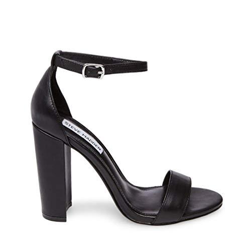 Steve Madden Carrson Blush Leather Women/'s Open Toe Block Heel Sandals