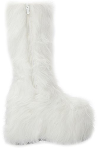 Ellie Shoes womens 500-fuzz White 00KMSmz