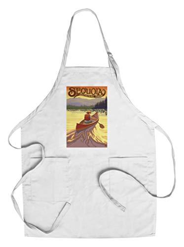 (Sequoia National Park - Canoe Scene (Cotton/Polyester Chef's Apron))
