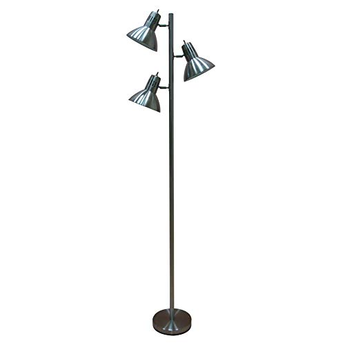 allen roth Embleton 68-in Brushed Nickel Multi-Head Floor Lamp