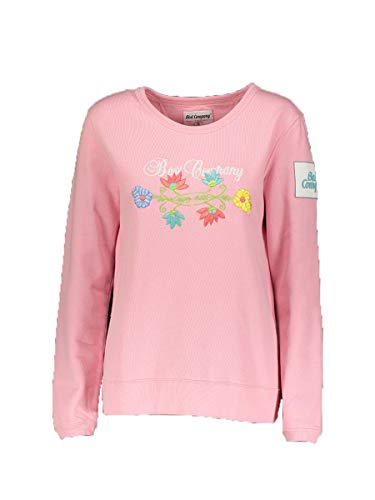 S Best Company Embroidery Crew Felpa Rosa WY0AF