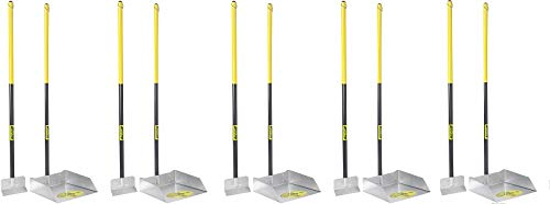 Flexrake 67W Large Scoop and Spade Set with 36-Inch Cherry Stained Wood Handle (5-(Pack))