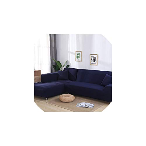 Sofa Coverl Shaped Sofa Cover Elastic Blue Sofa Covers for Living Room Couch Cover Sofa Slipcovers for Armchairs 1-4-Seater,Color 20,2Seater and 3Seater