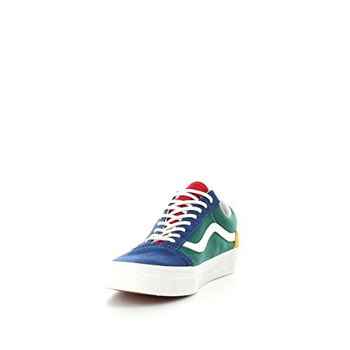 Vans Old Skool Platform Shoes Blu / Verde / Giallo 7219