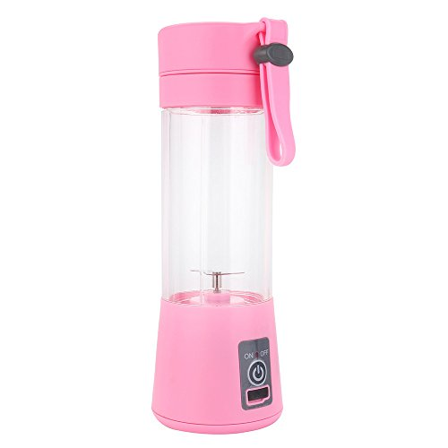 - Lopty Portable Blender stainless steel blades and pulse blending action USB rechargeable Personal Blender for single served Small Blender for Shakes Stronger Juicer (Pink)