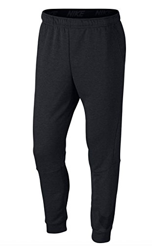 NIKE Men's Dry Taper Fleece Pants (Medium, Charcoal Heather/Black) - Pants Mulberry Line