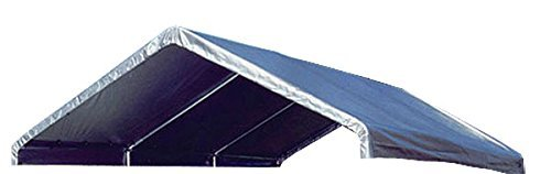 12' x 20' Silver Valance Canopy Replacement Cover (For 10' x 20' High Peak Frames) (Silver)