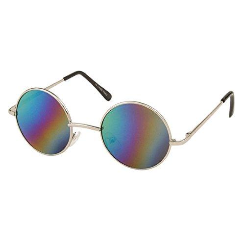 Multicolor sol Chic embarcadero Unisex tintados John Lennon gafas Net hippie Ronda de Gafas largo 400UV rUxnr6wRIq
