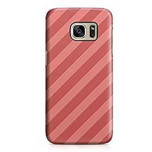 Samsung S7 Case Red n Pink Stripes Light Weight Clear Edges Samsung S7 Cover Wrap Around