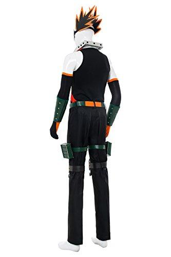NoveltyBoy BNHA Boku No Hero My Hero Academia Katsuki Bakugou Battle Suit Cosplay Costume Tights (X-Small, Black) by NoveltyBoy (Image #3)