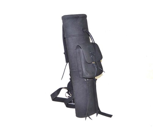 Best-selling Black Microfiber Arrow Quiver Archery Pure Handmade