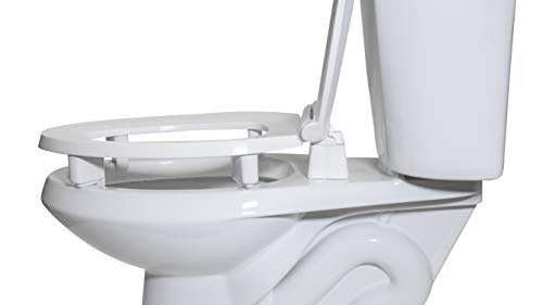 Centoco 3L800STS-001 Elongated 3'' Lift, Raised Plastic Toilet Seat, Closed Front with Cover, ADA Compliant Handicap Medical Assistance Seat, White by Centoco (Image #1)