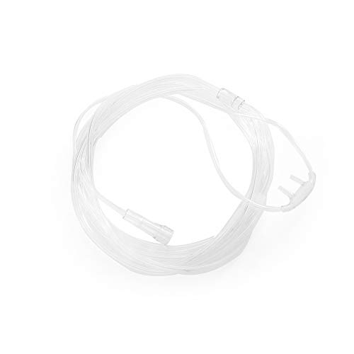 Disposable Nasal Oxygen Cannula - MediChoice Nasal Oxygen Cannulas, Kink Resistant, Soft Tip, 7 Foot, DEHP-Free, Adult, Clear, 1314RSP7010 (Case of 50)