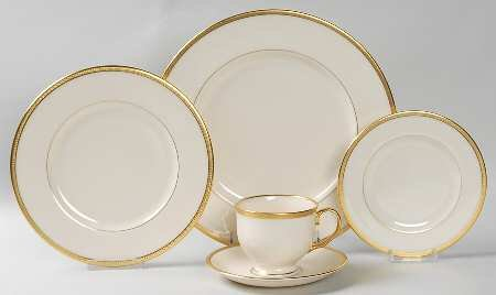 Lenox Tuxedo (Gold Backstamp) 5 Piece Place Setting, Fine China Dinnerware