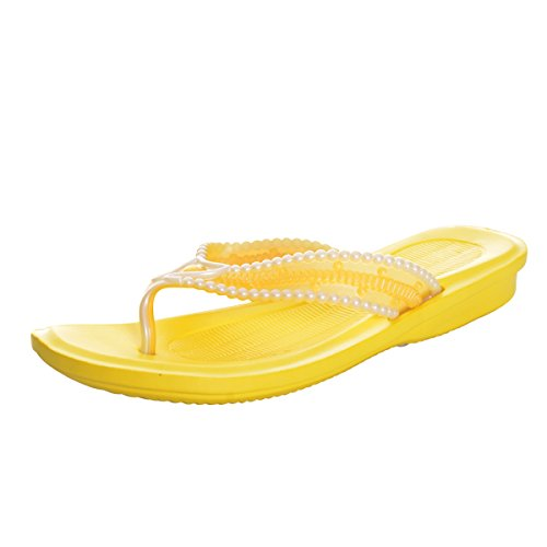 cd07d147863d5c VFDB Women s Casual Flip Flops Beach Slip 0n Thong Sandals PVC Candy Colors  Flats Shoes
