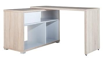 Bureau d angle corner chêne blanc amazon cuisine maison