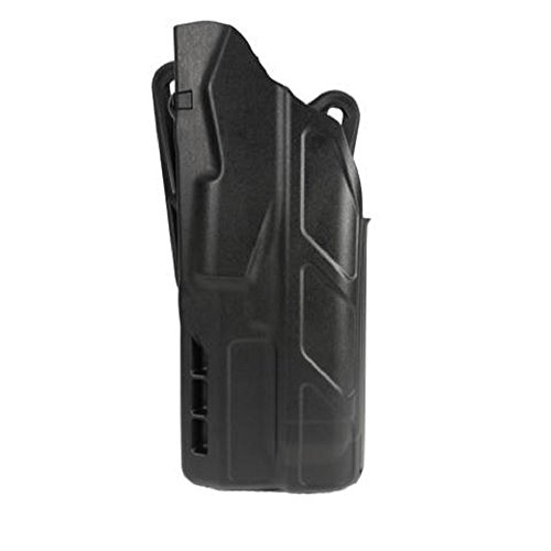 Safariland 7378 7TS ALS Open Top Concealment Holster, Flex-Paddle & Adjustable Belt Loop, Plain Black, Right Hand, Glock 17, 22, 31 w/ITI M3 Light