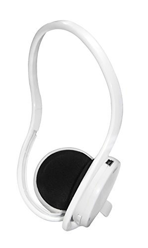 ProHT Bluetooth Neckband Headset (87090) with Built-in Microphone, Lightweight Stereo Headphones for Smartphone / MP3 / Tablet / eBook Readers / PC- White