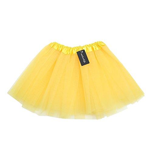 Anleolife 12'' Ballet Tutu Dress Birthday Tutu Skirt (yellow)