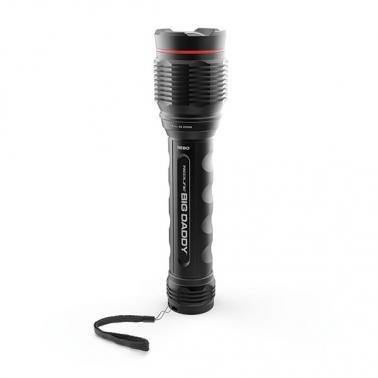 NEBO 6692 - Redline BIG DADDY - 2000 Lumen Flashlight - Completely Waterproof - 4x Adjustable Zoom - 5 Unique Light Modes - 9 x AA Batteries Included