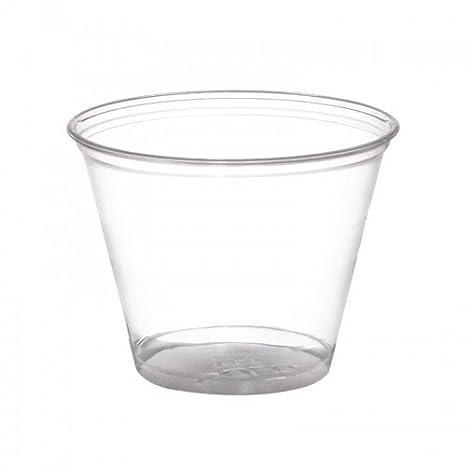 Thali Outlet® - 100 x 255 ml Squat plástico transparente tazas de batido - postre helado crema frutas dulces: Amazon.es: Hogar