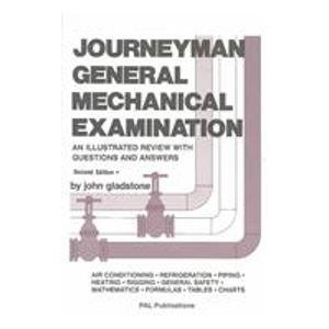 1988 Gladstone - Journeyman General Mechanical Examination: An Illustrated Review With Questions and Answers 2nd edition by Gladstone, John (1988) Paperback