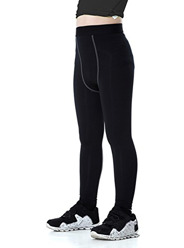 LNJLVI Boys & Girls Compression Tights Base Layer Thermal Under Tights/Leggings (Fleece Lined, 10)