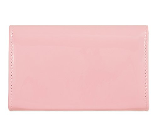 Clutch Purse Patent Evening Envelope Wallet Handbag KZ841 Glossy Ladies Bag Women's Bag Black w1REqR