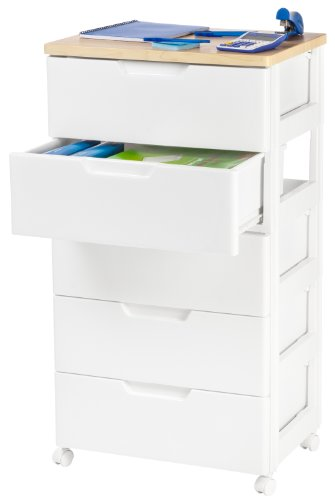 Amazon.com: IRIS USA, Inc. IRIS Premier Collection 5 Drawer Storage Chest,  White And Natural: Kitchen U0026 Dining
