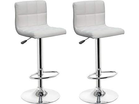 Sgabelli Bianchi Ecopelle : Franchinishop sgabelli quadrati in eco pelle imbottita sedia bar