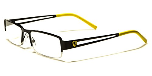 Khan Men's Square Half Frame Reading - Glasses Designer Online Cheap