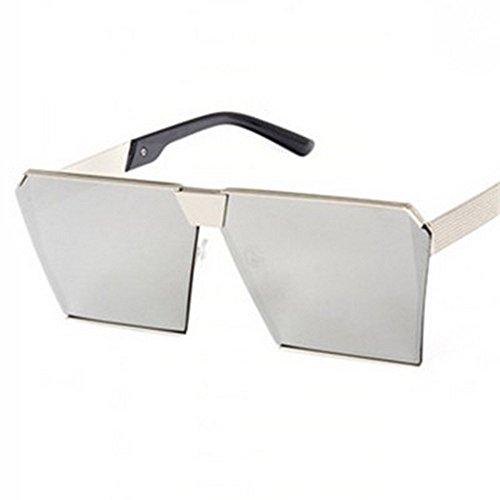 De blanco plata Moda De Sol JUNHONGZHANG Mujer De De Gafas Marco reflejo Personalizadas De Gafas para Plata Sol de De Marco Reflejo Blanco Gafas Decorativas Gafas Chaoshan Resina Sol Cuadradas 1qqHAxnpfZ