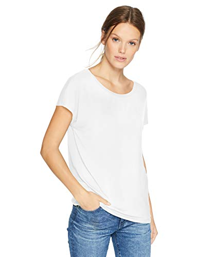 Daily Ritual Women's Jersey Short-Sleeve Boat Neck Shirt, White, XX-Large