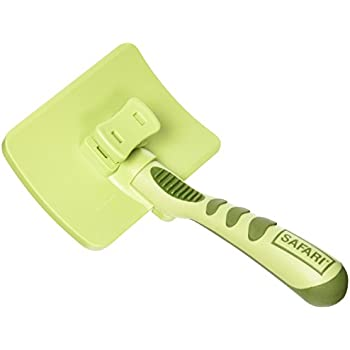 SAFARI Self-Cleaning Slicker Brush, Large Size, Slicker Brush, Slicker Brush for Dogs, Dog Brush, Pet Brush, Dog Hair Brush, Dog Brushes for Grooming, Stainless Steel Pins, Comfort Grip Handle