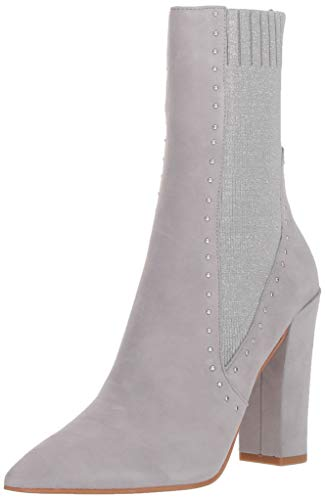 Dolce Vita Women's Echo Ankle Boot, Silver Suede, 7 M US (7 Boots Dolce Vita)