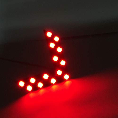 Sun·Light 14 SMD LED Arrow Panel for Car Rear View Mirror Indicator Turn Signal Light- Color (Red)