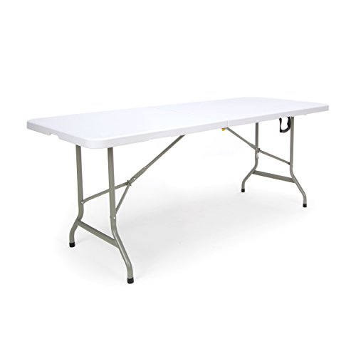 Essentials Center Folding Multipurpose Utility Table - Sturdy Card/Conference/Office/Craft Plastic Table, 30