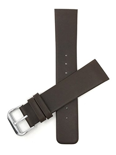 22mm Brown Genuine Leather Skagen Watch Replacement Watch Band Strap, Screw Case ()