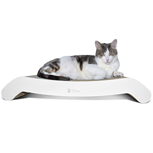 Cheap PetFusion Cat Scratcher FLIP Lounge. [Reversible and @ 27″ fits Even The Largest Cats