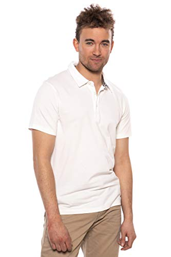 Texere Men's Polo Shirt (Puno, Natural White, XL) Performance Athleisure Wear