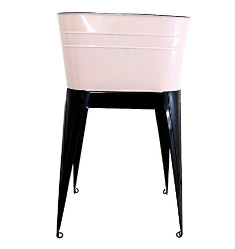 Pink Enamel Standing Wash Tub