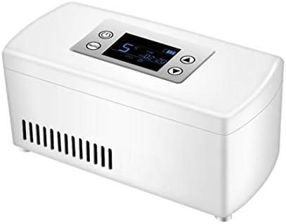 Untertischkühlschränke Insulin Gekühlter Kasten-Ausgangsauto-Kühlungs-Wieder Aufladbarer Intelligenter Kleiner Kühlraum Tragbare Bewegliche Interferon-Drogen (Color : Weiß, Size : 21 * 10 * 9.5cm)