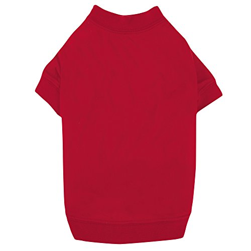 "Zack & Zoey Basic Tee Shirt for Dogs, 10"" X-Small, Tomato Red"