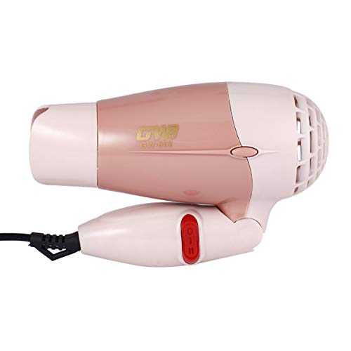 Mini Portable Foldable Handle Compact 1000W Hair Dryer Blow Dryer Hot Wind Low Noise Long Life for Outdoor Travel by Detectoy (Image #7)