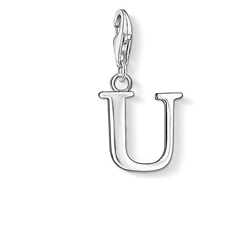 "Thomas Sabo Letter ""U"" Charm, Sterling Silver"