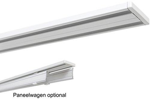 GARDUNA Set 5 Stück 60cm Aluminium Paneelwagen / Schiebewagen inkl. Beschwerung # weiss # für Flächenvorhänge / Schiebegardinen