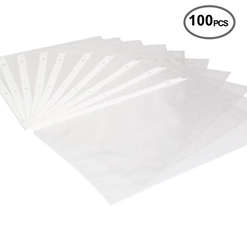 Sheet Protectors Page Protectors Economy Clear Sheet Protectors Letter Size, 3 Hole,Acid Free, 100 Piece