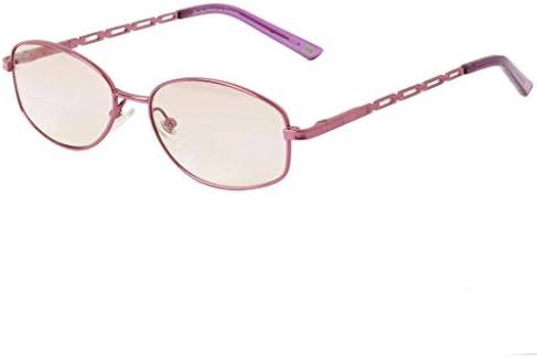 (レンサン) LianSan老眼鏡 レディース 女性 オーバル メタル フレーム おしゃれな 遠近眼鏡 遠近両用メガネ リーディンググラス シニアグラス 老眼鏡 L3750 (+3.00, パープル)